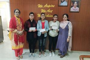 Students of Lyallpur Khalsa College for Women, Jalandhar awarded Scholarship