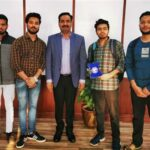 RBU students make flooring tiles from plastic waste