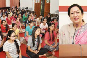 KMV Organizes a One Week Meditation Camp for Hostel Students