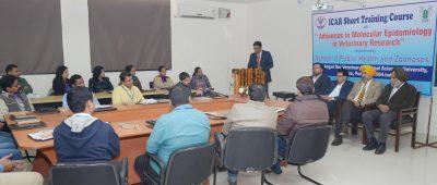 "ICAR Training Course on ""Advances in Epidemiology"" at Vet Varsity"