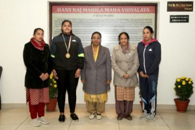 WeightlifterSehaj of HMV Collegiate Sr. Sec School got selected for Khelo- India Youth 2020 Games