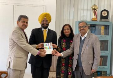 "Panjab Univ Registrar releases  book on ""Peace is Possible"""