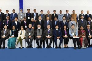 PM Narendra Modi in a group photograph with the Economists and Experts at NITI Aayog