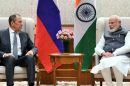 Minister of Foreign Affairs  Russian Federation, Sergey Lavrov calling  Prime Minister Narendra Modi,