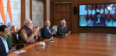 PM Narendra Modi and the Prime Minister of Nepal, K.P. Sharma