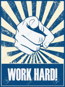 Work hard  Luck is the concept invented by weak persons