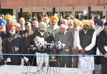 All party meeting convened by Capt Amarinder resolved not to allow transfer of Punjab river waters