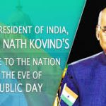 Address by the Hon'ble President of India Shri Ram Nath Kovind On the eve of the Republic Day of India 2020
