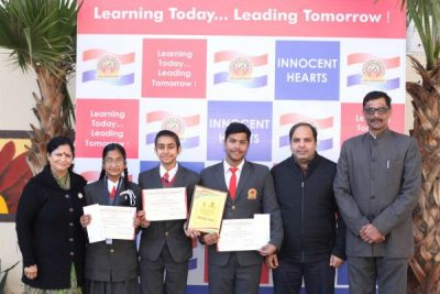 Innocentites outshone in Exhibition and Art competitions – won First Position and cash prize