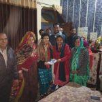 कुमारी सैलजा ने युवा नेता वेदप्रकाश भाट को दिया आशीर्वाद