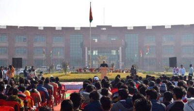 Republic Day celebrated in Central University Haryana