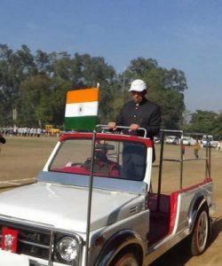 गणतंत्र दिवस के द्रिष्टिगत फुल ड्रैस फाईनल रिहर्सल में डीसी अशोक कुमार शर्मा ने किया ध्वजारोहण