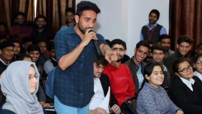 Kashmiri Mimicry Artist Anwar Kasana enthralls Aryans Students