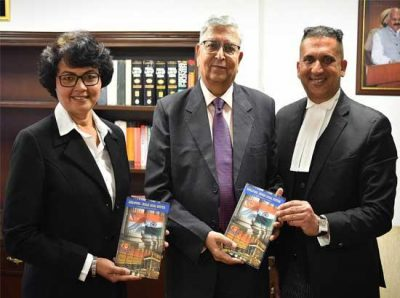 "Justice (Retd.) Vinod K. Sharma acknowledges book titled ""Singapore-Indian Legal System-A Comparative Study"""