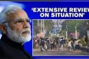 PM reviews situation prevailing in various parts of Delhi