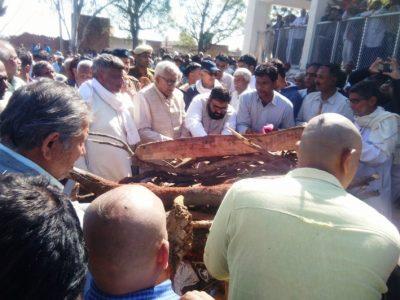 पूर्व जिला परिषद प्रमुख बर्फी देवी का अमरपुरा में किया अंतिम संस्कार