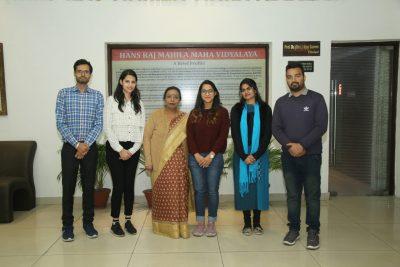 M.Voc (Web Technology and Multimedia) Sem-I students of Hans Raj Mahila Maha Vidyalaya got 1st and 2nd positions in Guru Nanak Dev University