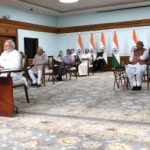 Prime Minister, Narendra Modi interacting with the eminent sportspersons