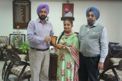 Harpreet Kaur  bagges 2nd position in  University exams