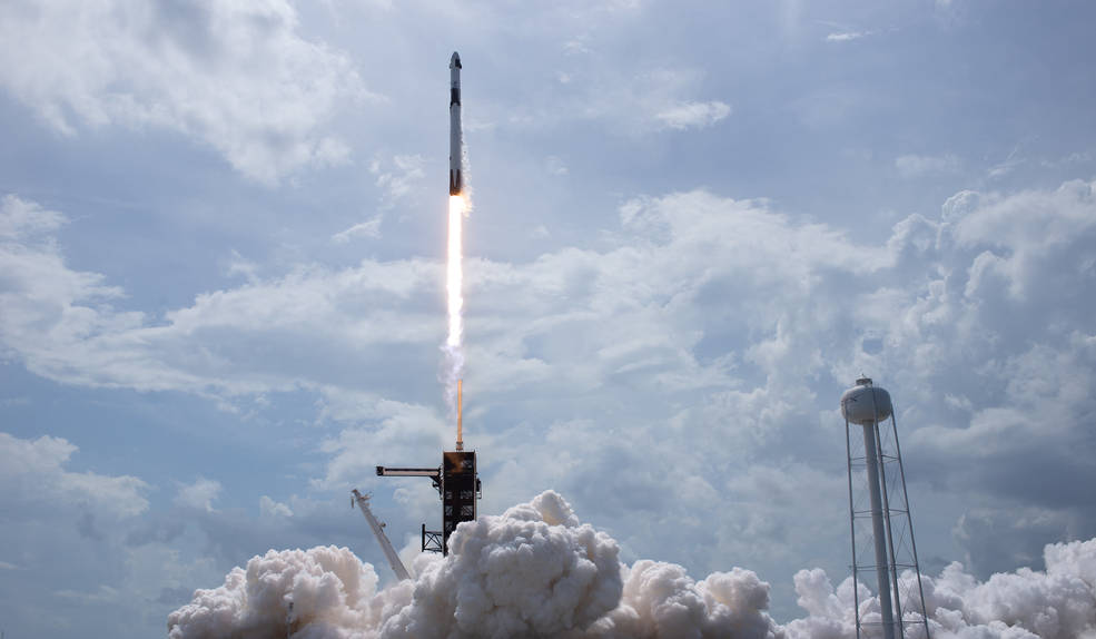 NASA Astronauts Launch from America in Historic Test Flight of SpaceX Crew Dragon