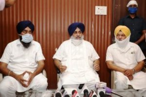 Sukhbir Singh Badal demands CBI probe into multi-thousand crore scam in central food material sent as relief to Punjab.