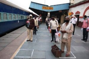 """First """"Shramik Express"""" with 1200 migrants chugs off from Ferozepur in presence of DC"""