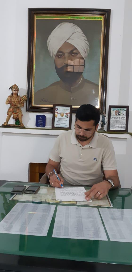 MLA Angad Singh announces to Give Up his Salary For Rest of Tenure