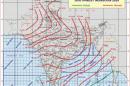 दक्षिण पश्चिम मॉनसून का दक्षिण अंडमान सागर में प्रवेश (1300 बजे आईएसटी)