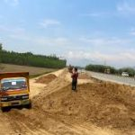 Construction work starts of emergency airstrip in Kashmir.
